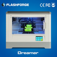 Flashforge 3d printer dual extruder ABS PLA filament WIFI connection 3d printing product