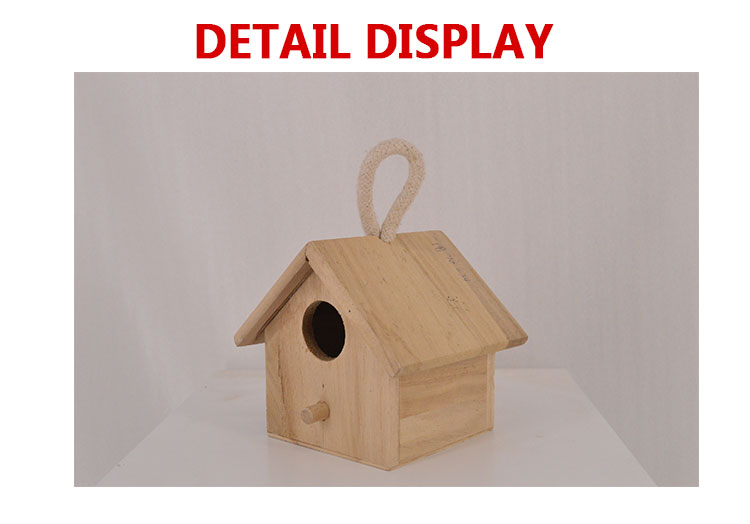 Custom Logo and Color FSC Certified Small Wooden Bird House Wood Crafts Bird House