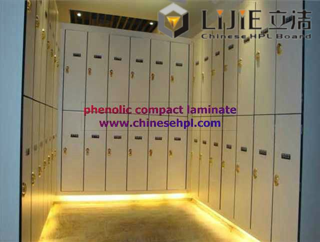 LIJIE china supplier moistureproof and waterproof HPL 2 door /column locker in spain