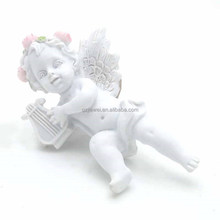 New arrival small size resin wing angels figurine for sale