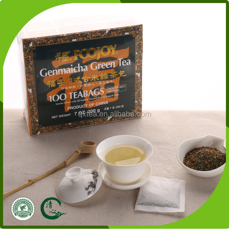 China popular flavor green tea natural brown rice green tea