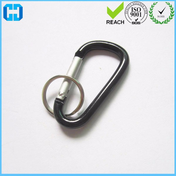 Wholesale Carabiner Key Chains Aluminum Carabiner Split Key Rings