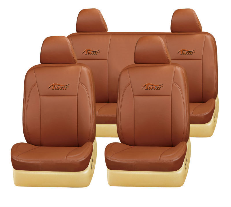 fancy car seat cover in khaki color leather PVC seat cover for used vehicle RAV4/Prado/Fortuner/Land Cruiser seat cover TP-014