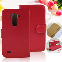 Wholesale Cell Phone Case Wallet Leather Flip Cover Case For LG G3 Beat