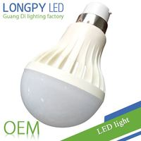 5W B22 base LED Bulb in plastic body with factory price in China