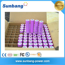 famous brand rechargeable 3.7v 2600mah li ion 18650 battery for battery powered led light box