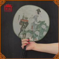 Share your passion round shape wedding hand fans as giveaway gift TS102-5