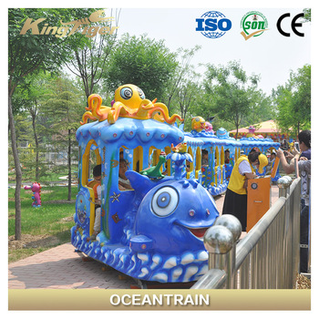 Best selling and lovely design 14 seats kiddy rides amusement track train with various models