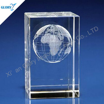 cheap 3d laser glass paperweight