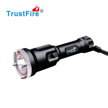 Self defense underwater flashlights 100 meters diving torch 650 lumen with 18650 battery