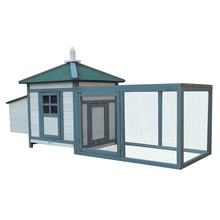 Wood Pet Hen House/Chicken Cage/Rabbit Hutch Coop w Run Large