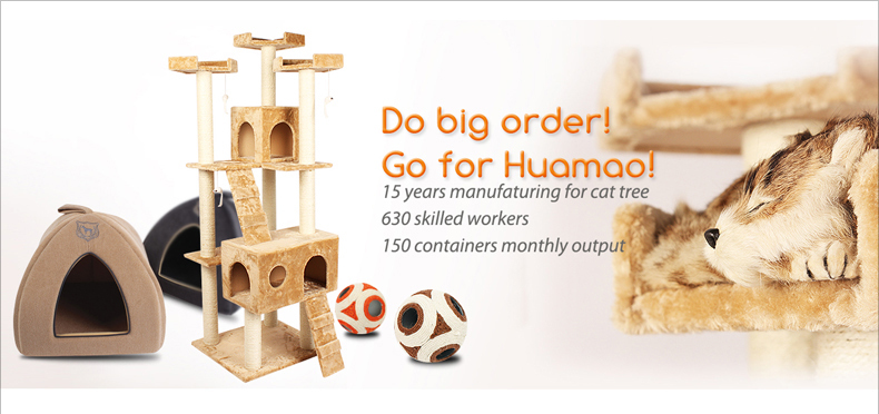 Go pet cat furniture scratching tree for whole sale