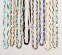 Double Wrapped Semi-precious Mala Beads Knotted Necklaces Yoga Jewelry
