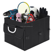 Collapsible Storage Container Auto Foldable Car Trunk Organizer Box with Handles