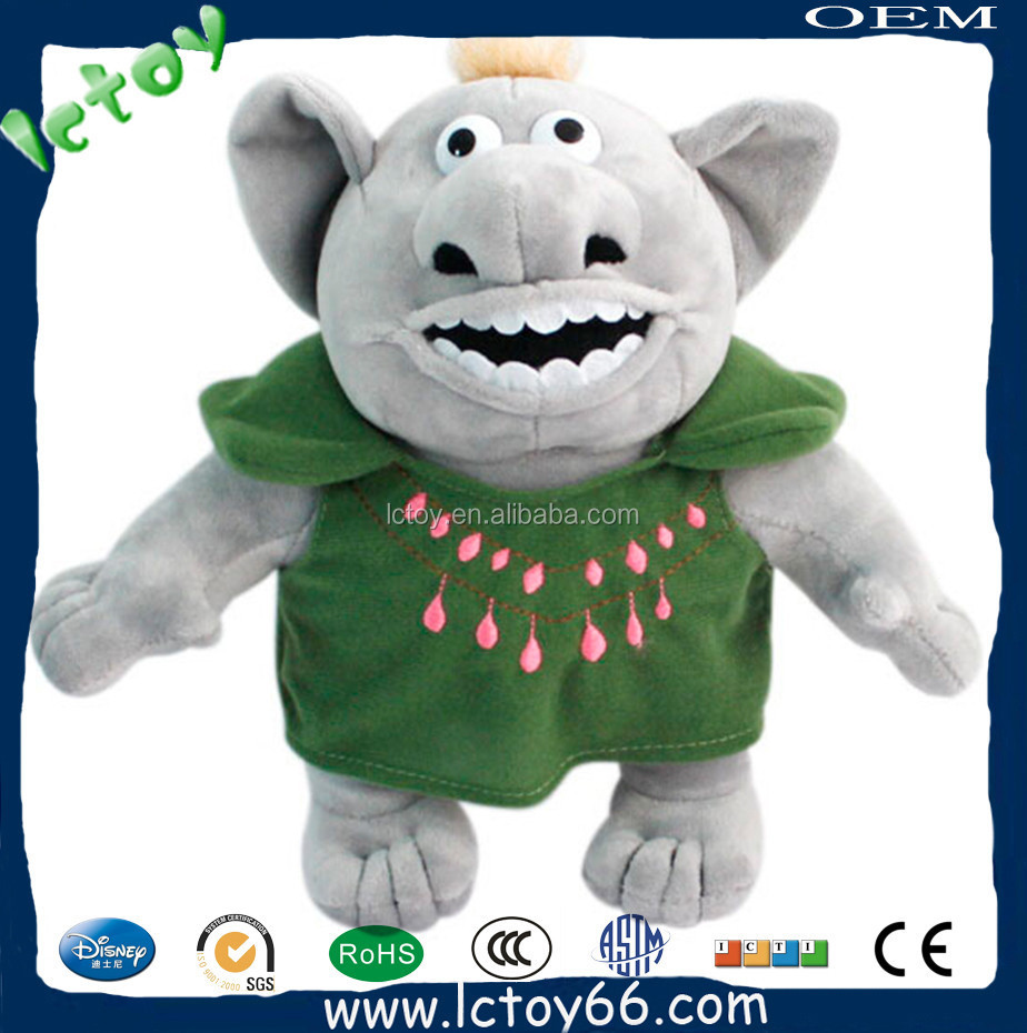 plush material troll animal dolls appear in famous frozen movie