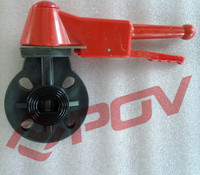 Acid resistant pn10 plastic upvc wafer butterfly valve installation