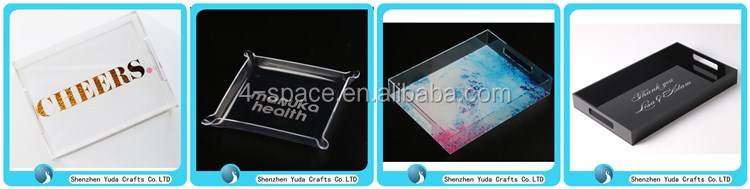 custom acrylic tray wholesale, acrylic serving trays, acrylic tray with insert paper