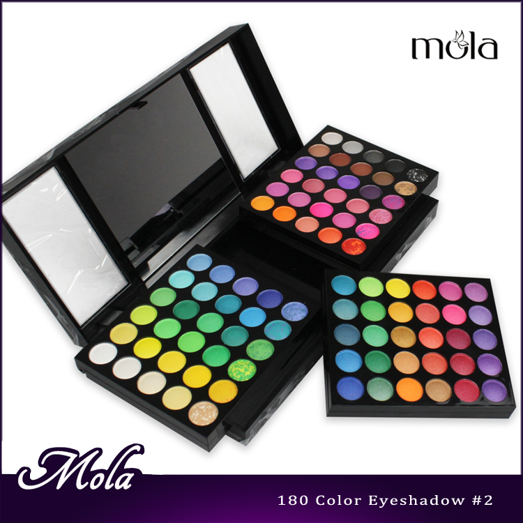 Pro180 color waterproof eyeshadow makeup palette, <strong>cosmetics</strong> wholesale shimmer eyeshadow