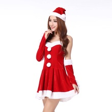 Sweetheat red christmas bra dress for women