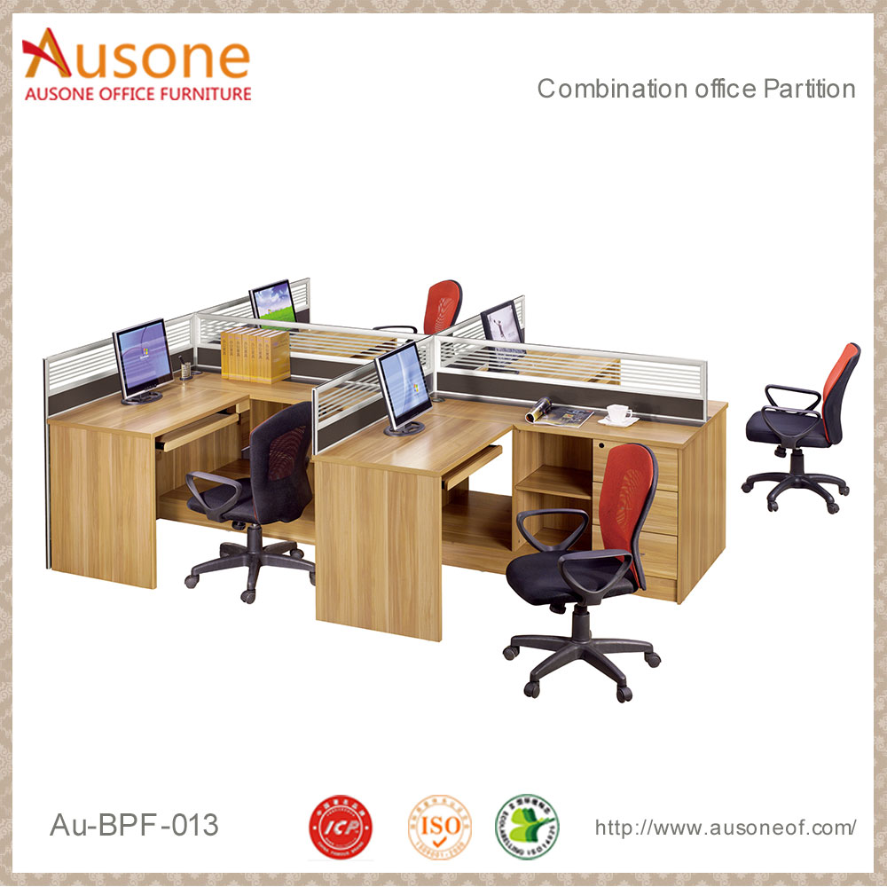 High Quality 4 Persons Wooden Office Partition