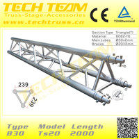B30-TS20 TUV Certification Aluminum Roof Truss Frames for Stage System/Light Weight Aluminum Roof Truss Frames.