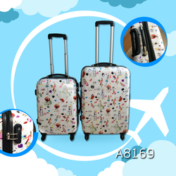 2016New steel abs/pc fashion cute trolley travel luggage manufacturer
