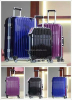 PC aluminum frame pull rod box 4 Pcs Set Luggage