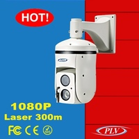 Outdoor hd-sdi 1080i long range 300m night vision ir laser hd sdi ptz camera infrared pan tilt zoom laser ir 300m
