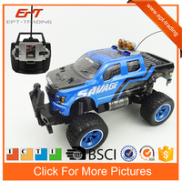 Kids rc car 1/10 big wheel remote control truck toy with charger