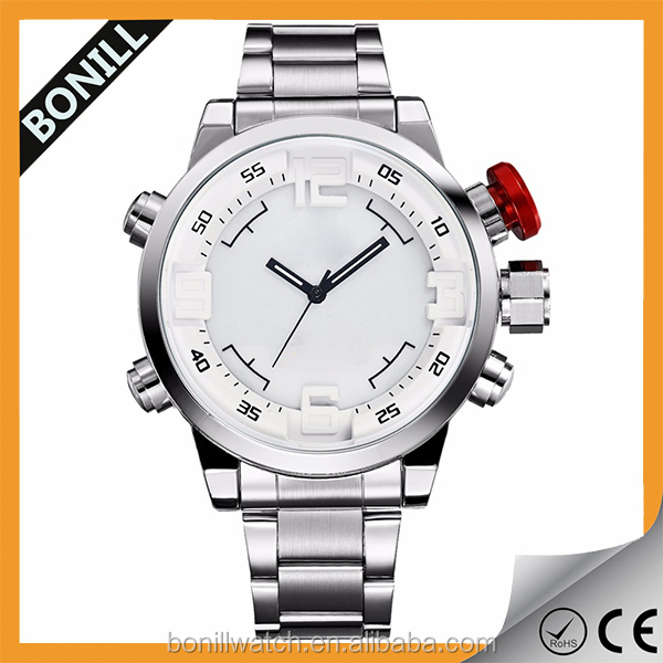Fashion and luxury watct,custom men watch japan mov't stainless steel watch