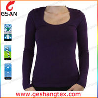 Woman tight fit long sleeve t shirt