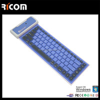 Mini Bluetooth Wireless Silicone Rubber Keyboard For Smart Phones---SKB-212--Shenzhen Ricom