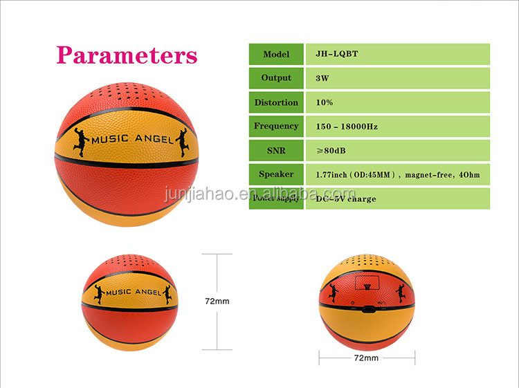 Entertainment Products Mini Basketbal Color Ball Speaker Bluetooth