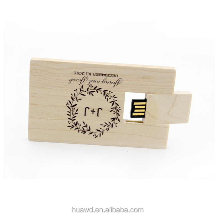 Credit wood card shape usb flash drive,wood card usb,usb 2.0 card reader