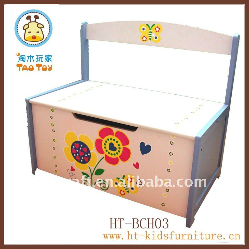 Childrens Wooden Storage Bench