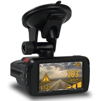 Ambarella 1296P Full HD all in one car dvr suport police Radar Detector and GPS tracker with speed alarm camera in car