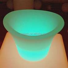 light up LED ice bucket beverage tub/color changing beer cooler for bar and evening