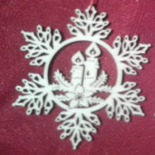 2015Teda custom cheap snowflake ornaments