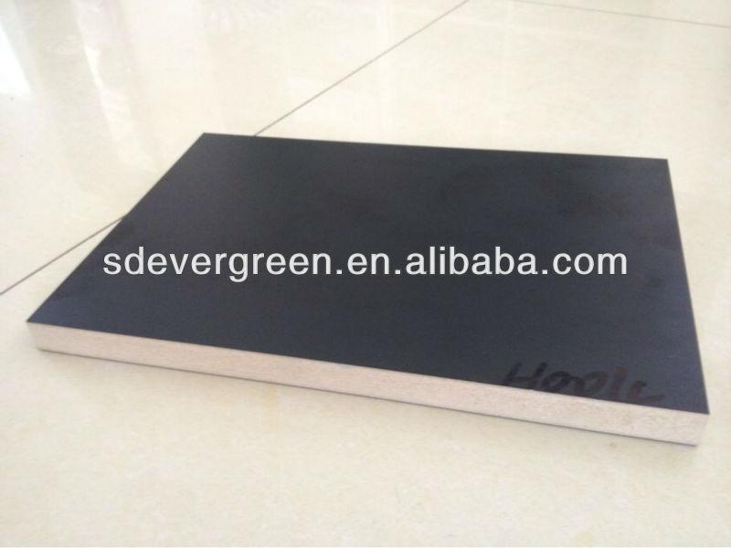 Best price black melamine laminated mdf board e glue