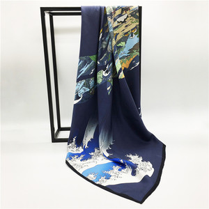 Factory direct digital print custom design silk scarf