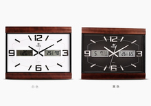Unique LCD wall clock,Time/Date/Temperature LCD clock,Varnish wooden case
