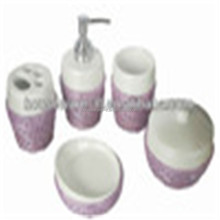 high quality fancy resin bath accessory sets