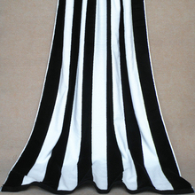 Dyed yarn jacquard velour cotton beach towel stripe beach towels