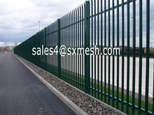 2016 Single Section HDG Palisade Fencing / Park Steel Palisade Fence / W Profile Palisade Fencing
