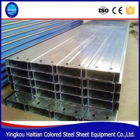 Best quality of the C purlin/c type channel steel purlin/steel hot dip galvanized Purlin