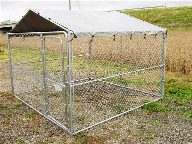 Hot dip galvanized metal steel 10x10x6 Dog Kennel