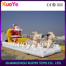 inflatable Christmas santa Claus with deer, Christmas decoration Christmas father with bag, inflatable Christmas ornament