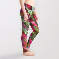 High Waist Printed Yoga Leggings, Workout Fitness Pants, Supplex Compression Tights