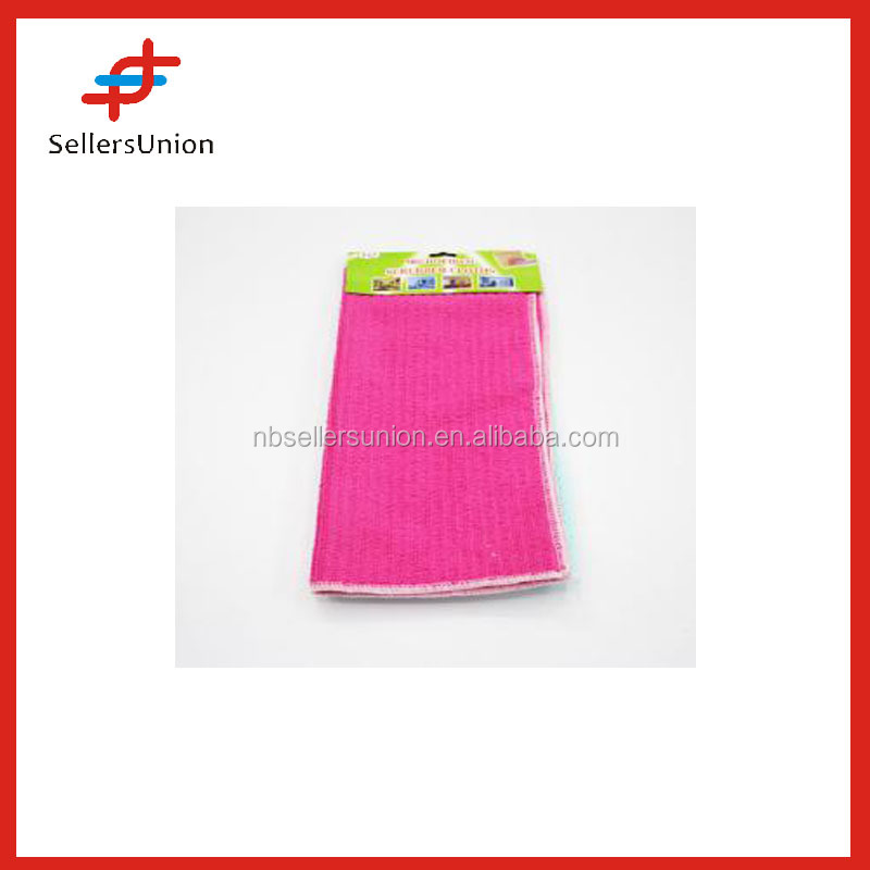 3 Pieces Fiber Rose Red Mesh Cleaning Kitchen Towel