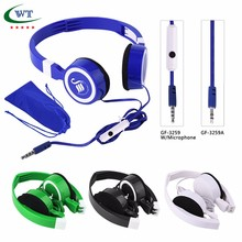 china fashion Foldable mobile phone headphone With Microphone